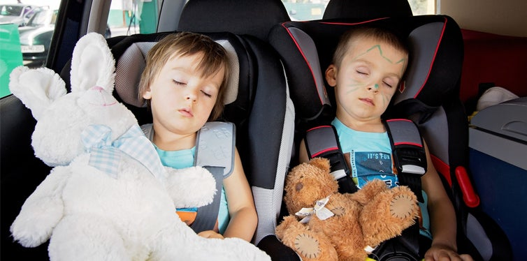 kids in an infant car seats