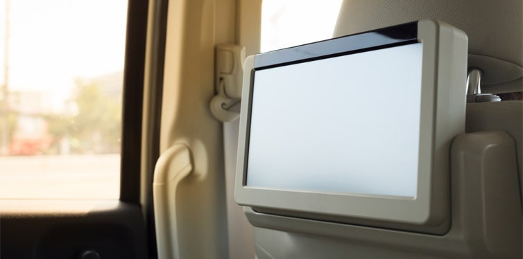 dvd player in car