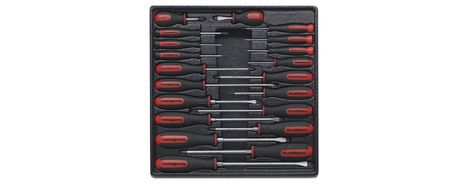 gearwrench 80066 20 piece master dual material screwdriver set