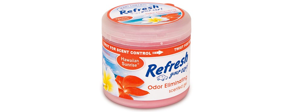 refresh your car scented gel can