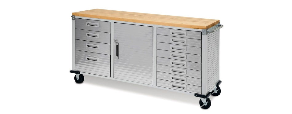 seville classics 12-drawer rolling workbench