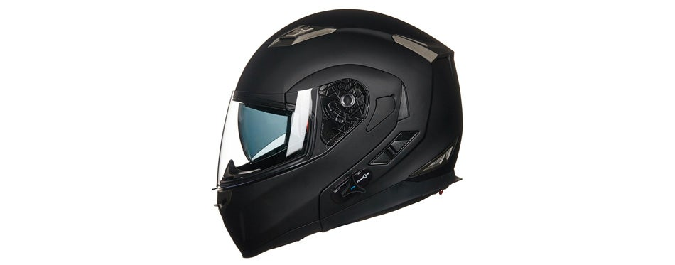 ilm stealth bluetooth motorcycle helmet with sun shield