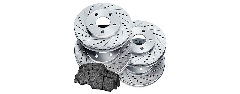 power sport cross drilled brake rotors disc