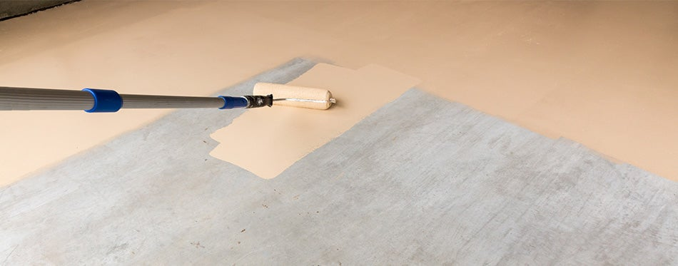 apply garage floor paint