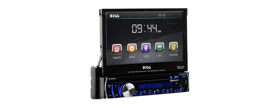 boss audio single din touch screen car stereo