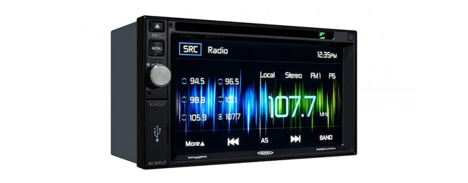 jensen multimedia touch screen stereo receiver