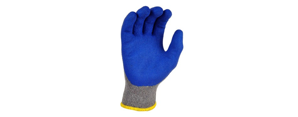 g&f knit rubber latex work gloves (12 pack)