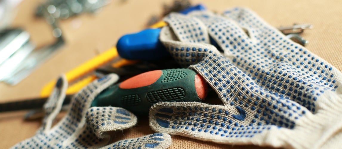 gloves with tools