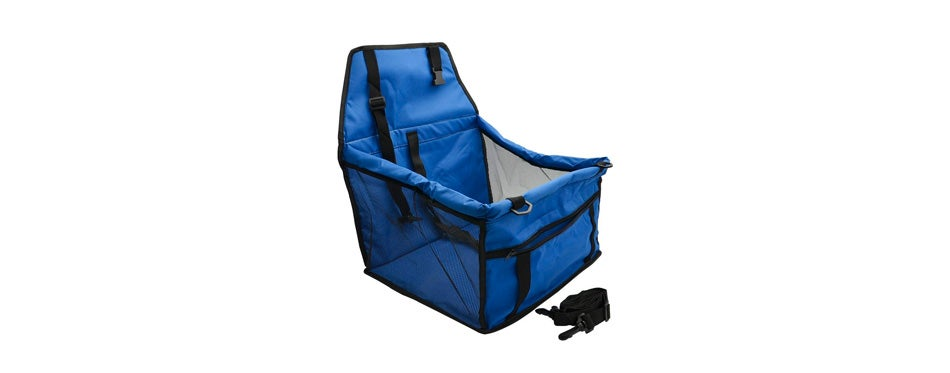 wopet deluxe portable pet dog booster car seat