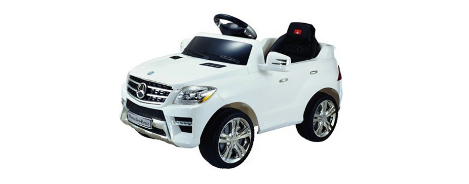 costzon white mercedes benz electric kids ride on car