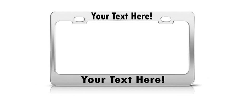 product express personalized chrome license plate frame