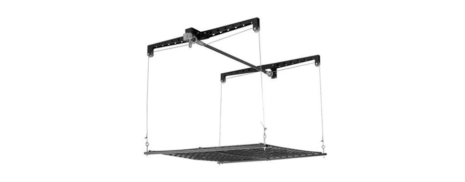 racor-phl-1r-pro heavylift 4 by 4 foot cable lifted storage rack