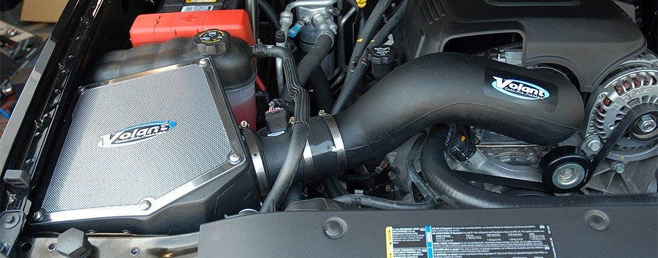 volant cold air intake installed into car