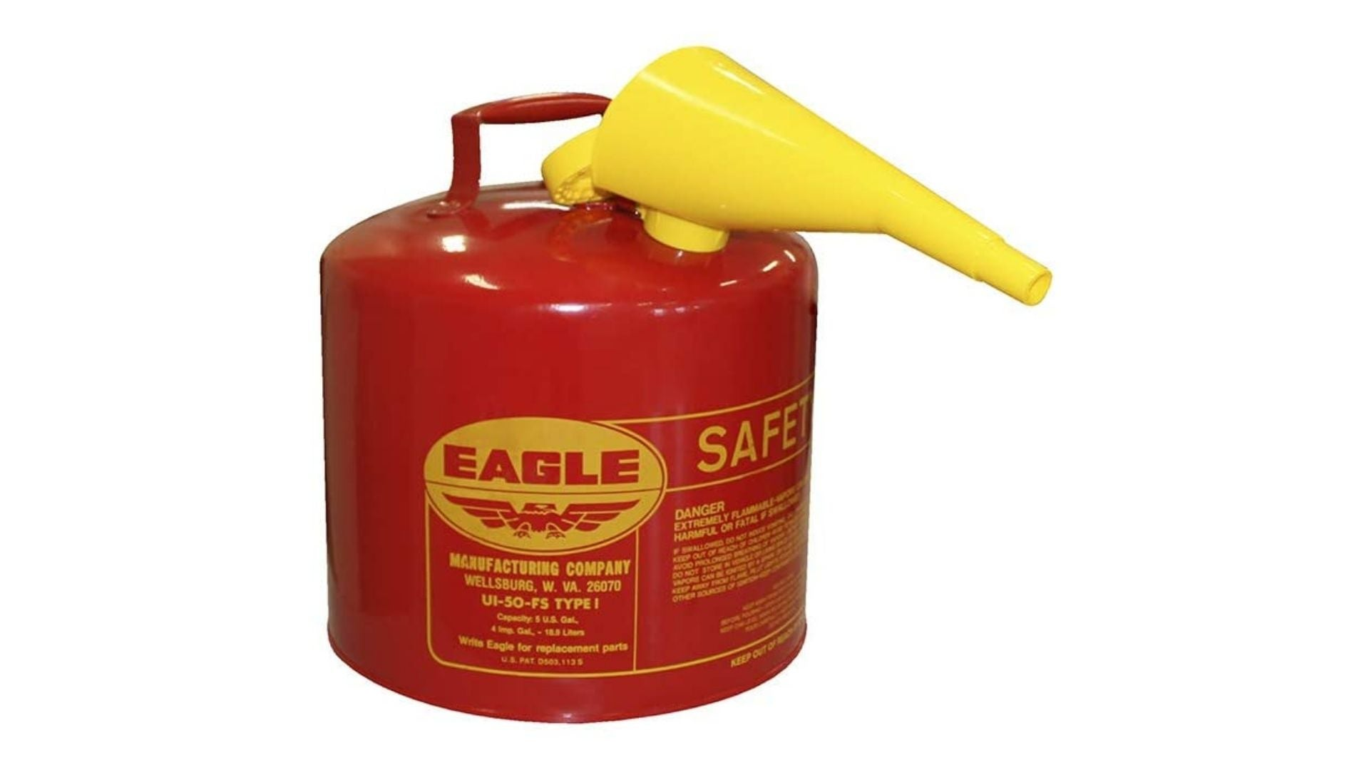 Eagle Type I Gasoline Safety Can