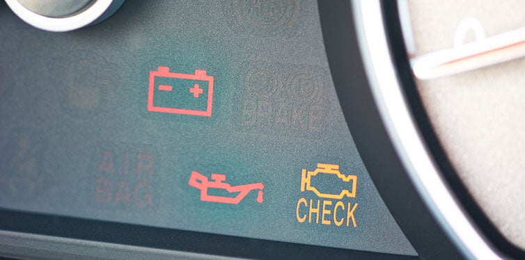 Malfunction or check engine car symbol