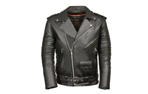 Milwaukee Leather Men's Classic Side Lace Motorcycle Jacket