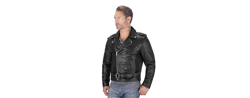 angel fire leather motorcycle men's jacket