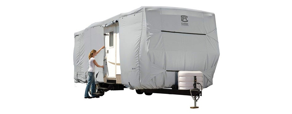 classic accessories overdrive permapro travel trailer cover