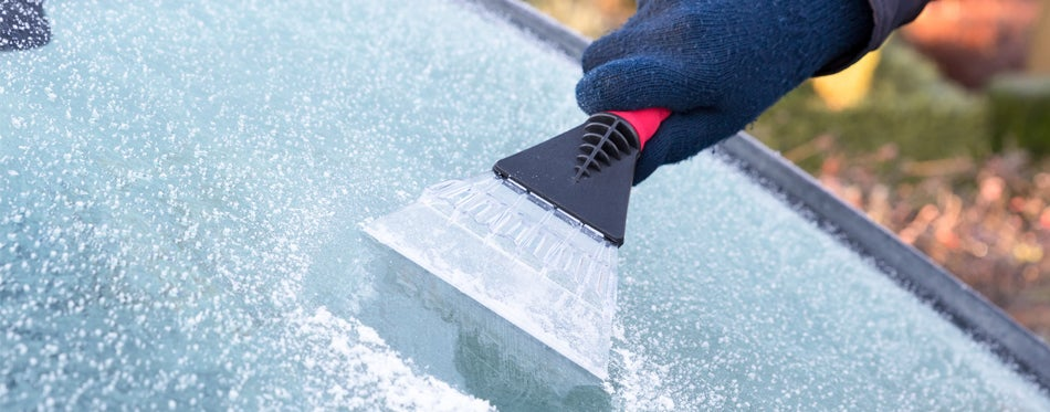 cleaning snow and ice