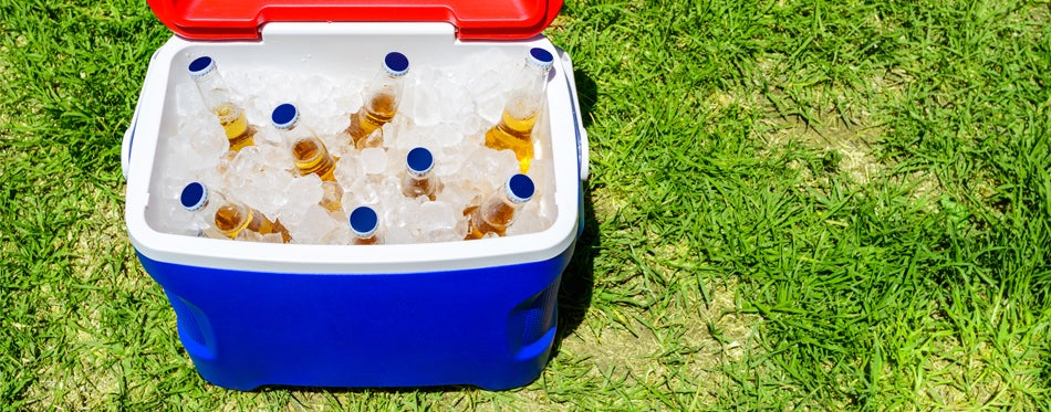 drinks in a cooler