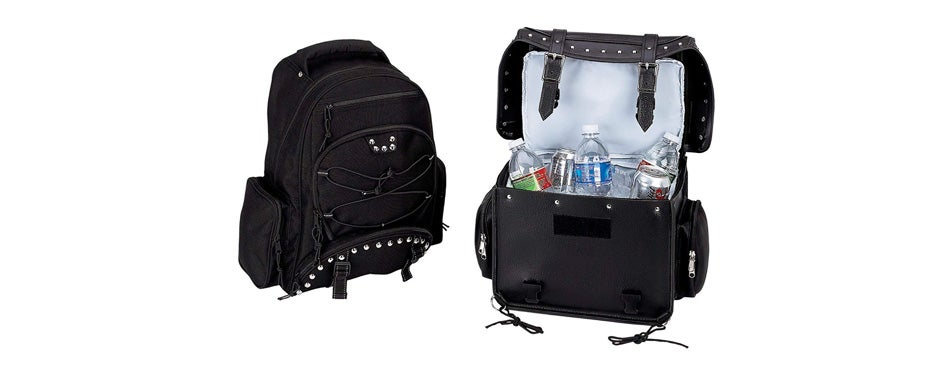 heavy duty pvc motorcycle cooler bag and backpack