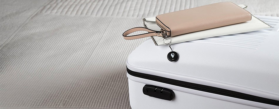 key finder linked to the suitcase