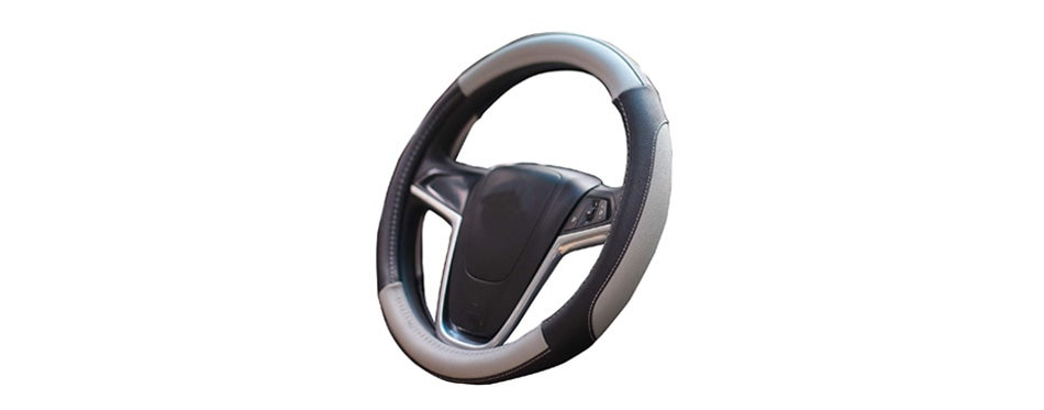 mayco bell avalon gray car steering wheel cover