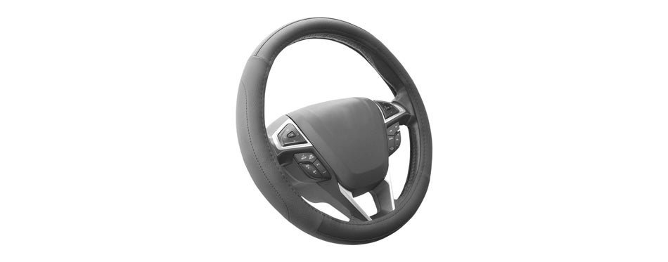 seg direct black microfiber car steering wheel cover
