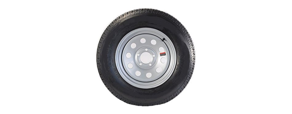 wheels express inc 15 silver mod trailer wheel with radial st205 75r15 tire