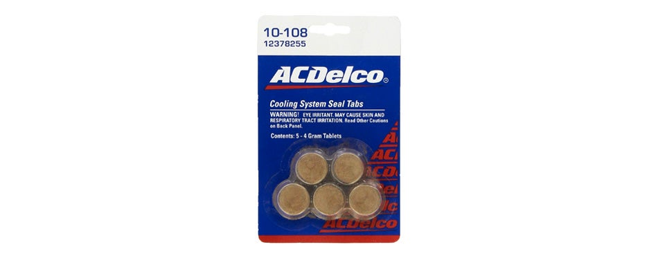 genuine gm acdelco cooling system seal tabs