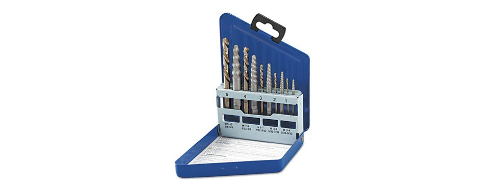 irwin tools hanson spiral extractor and drill bit set