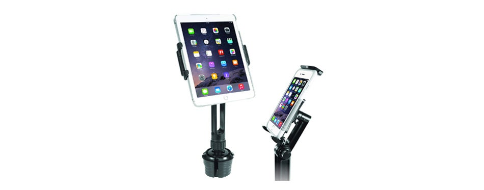 macally 2-in-1 heavy-duty car cup holder mount