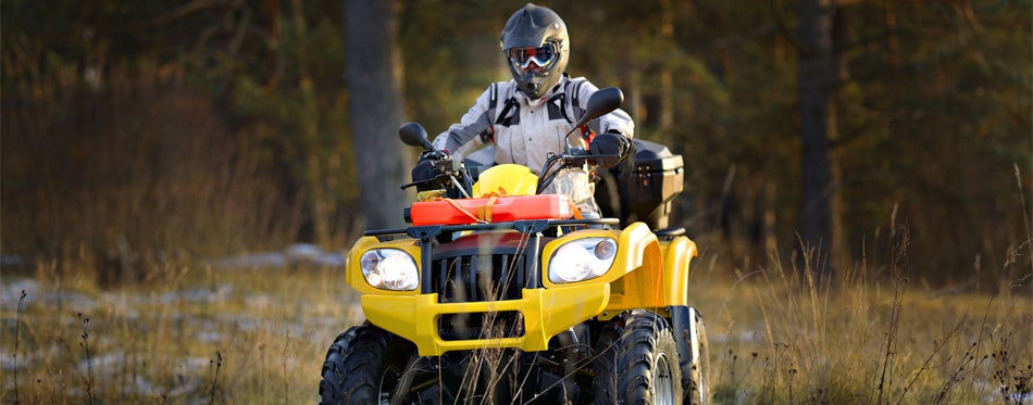 man riding atv