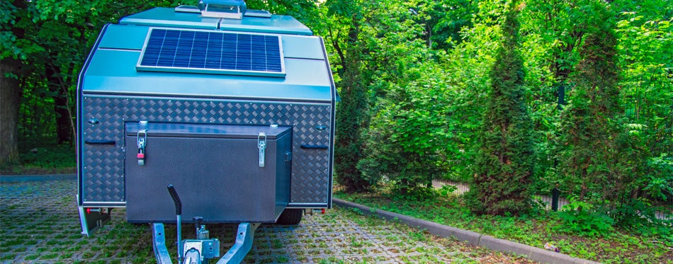off-road trailer with a solar panel