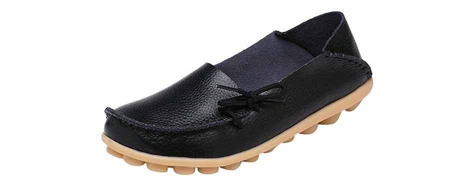 serene womens leather cowhide casual driving loafers
