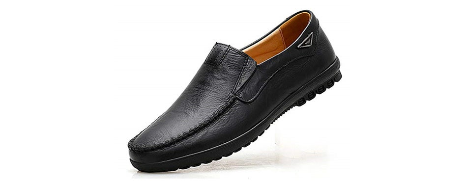 vancilin men's casual leather shoes loafers driving shoes