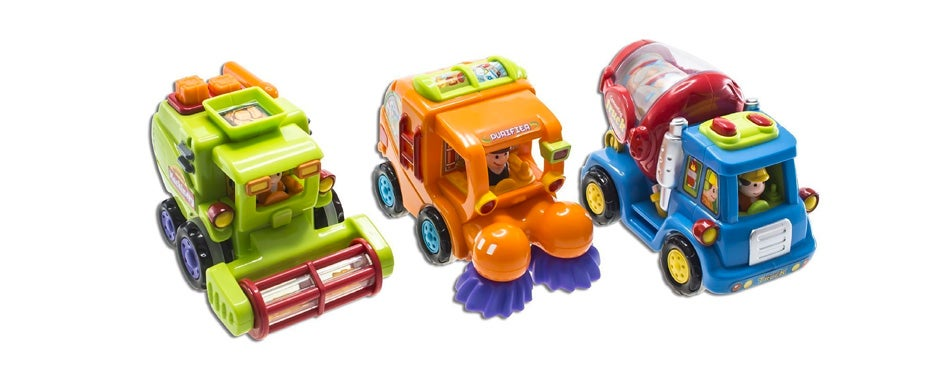 wolvol push and go friction powered car toys