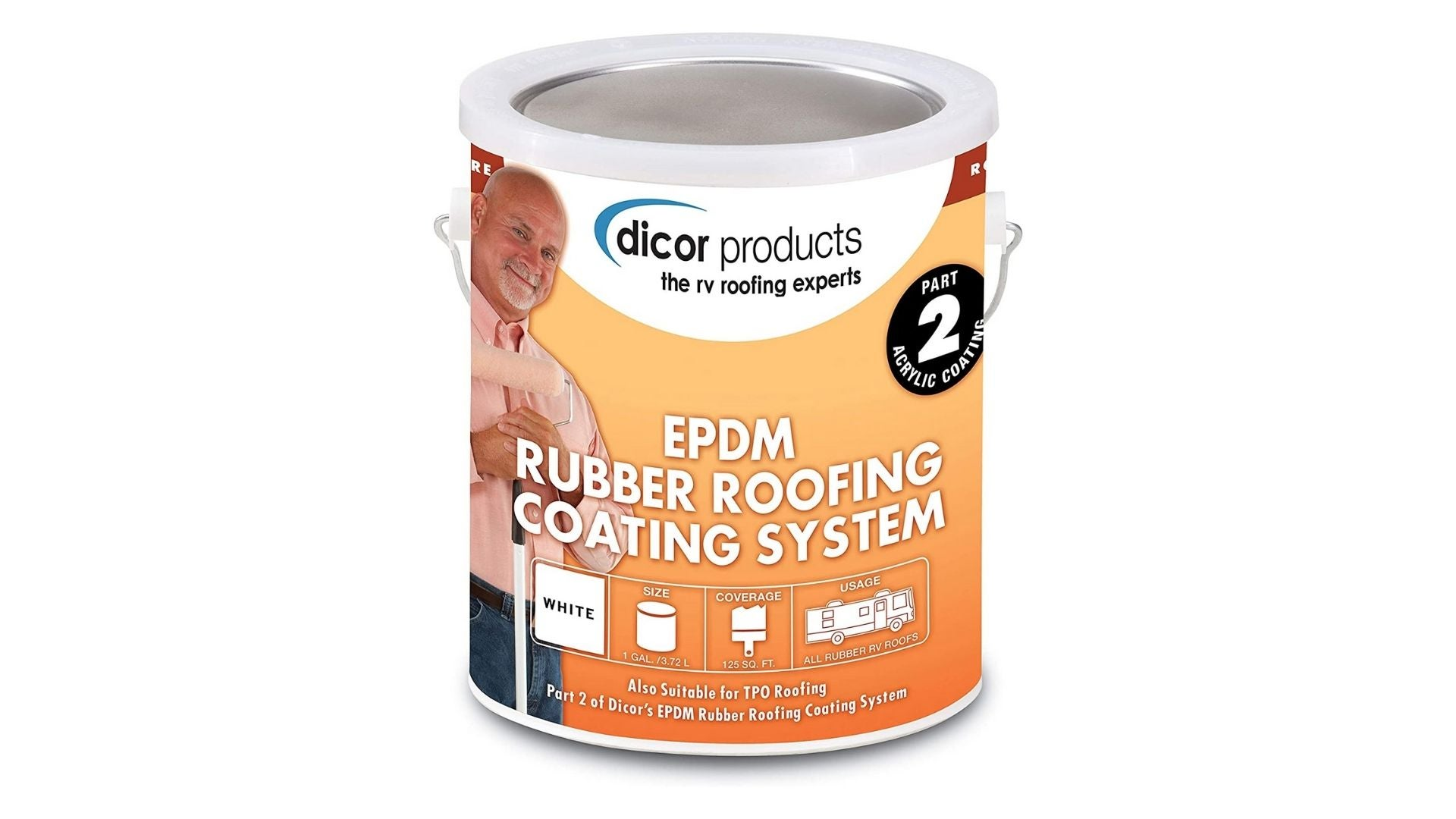 Dicor White EPDM Rubber Roof Coating