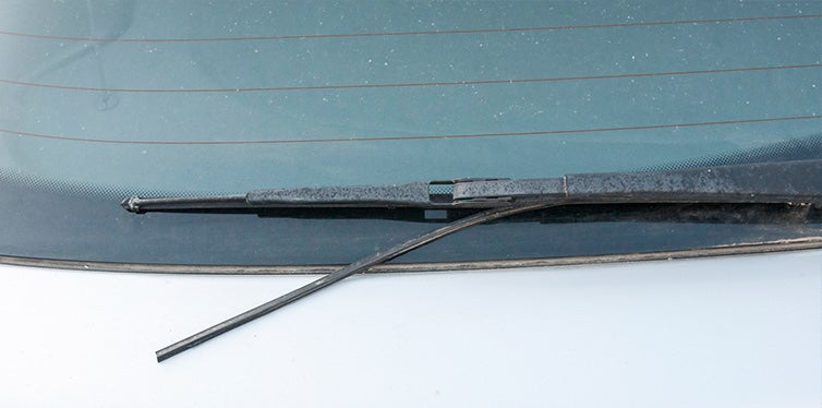 Windshield wiper broken