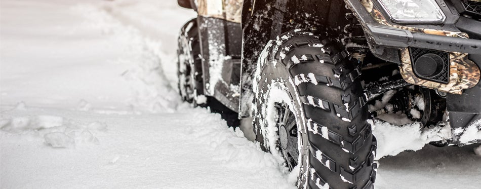 atv tires in snow
