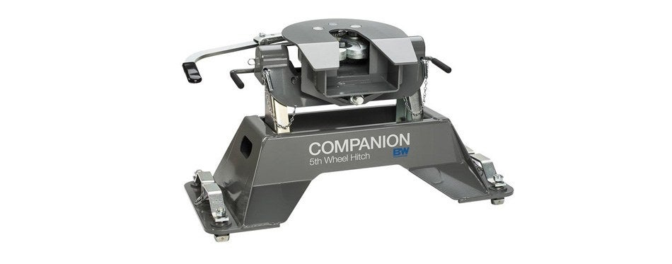b & w companion fifth wheel hitch for ford puck