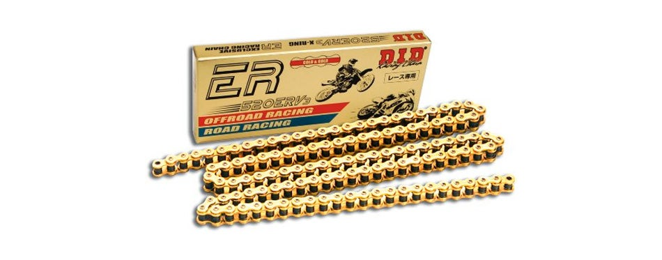did 520erv3-120 gold motorcycle chain with connection link