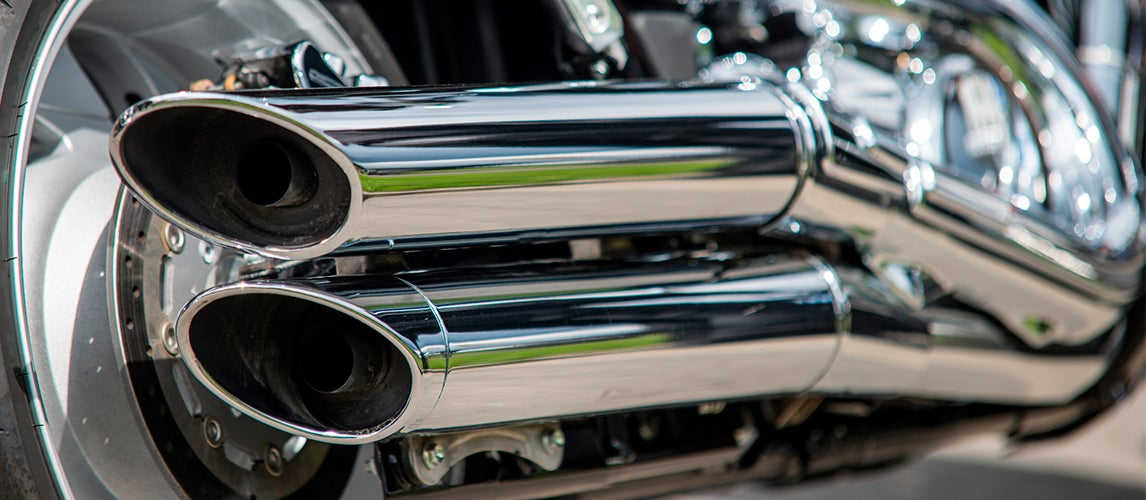 how to fix bluing on motorcycle exhausts