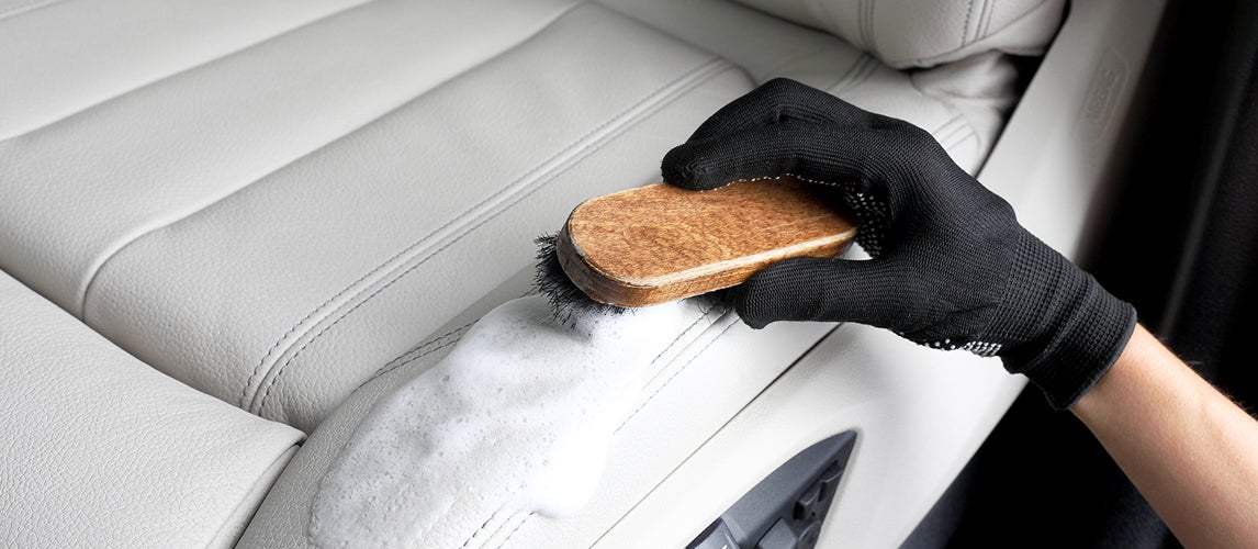 how to remove coffee stains from car seats