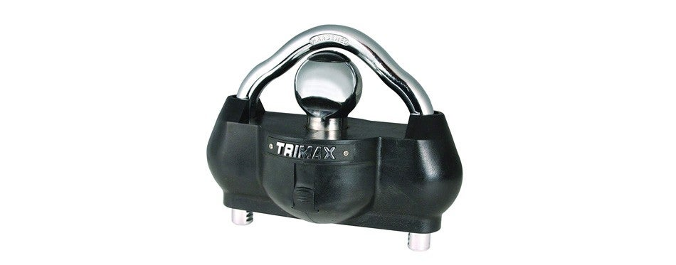 trimax premium universal 'solid hardened steel' trailer hitch lock