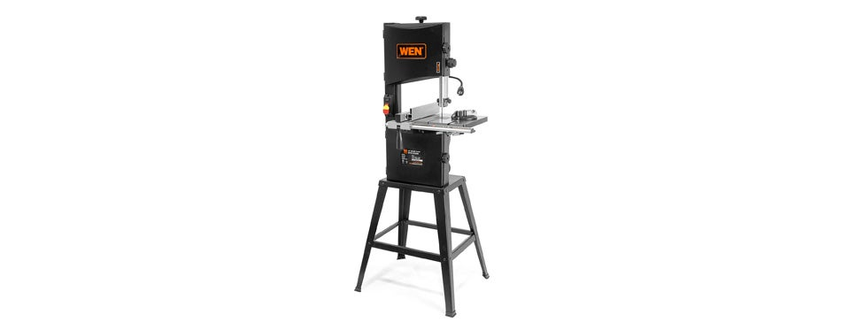 wen two-speed band saw with stand and worklight