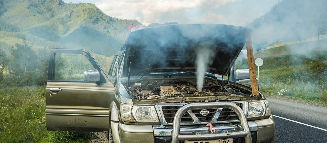 what causes a car to overheat