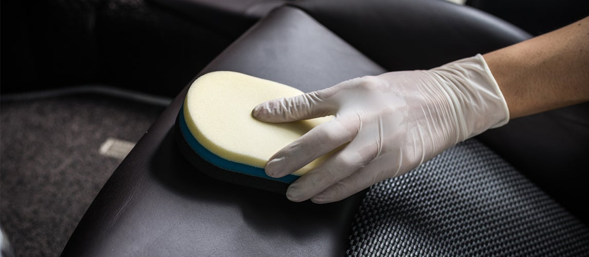 how to clean a leather car seat