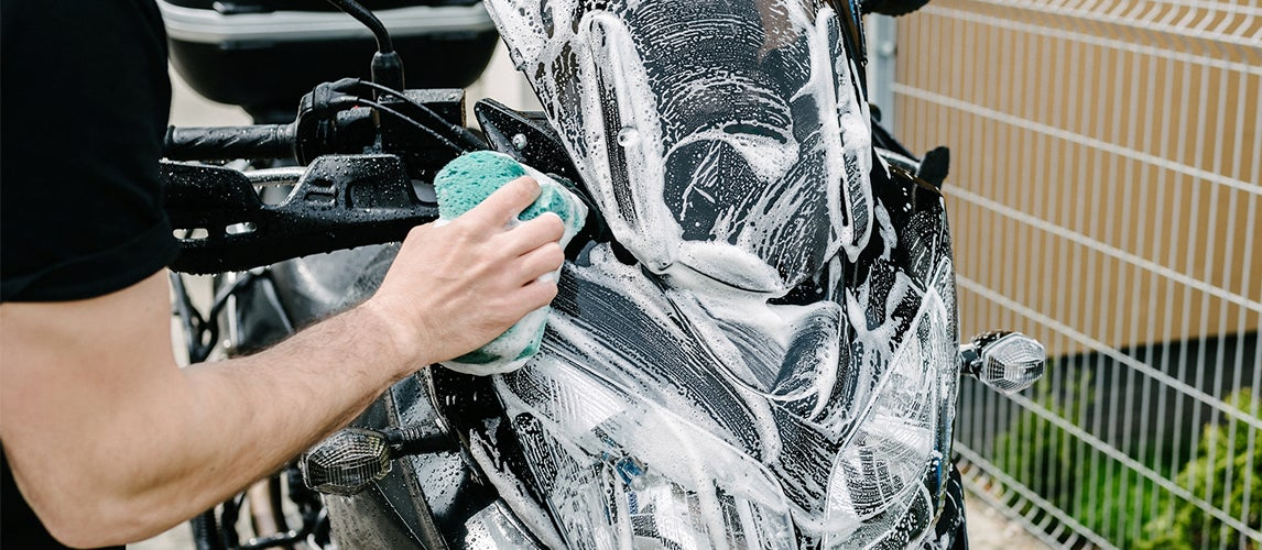 how to wash a motorcycle like a pro