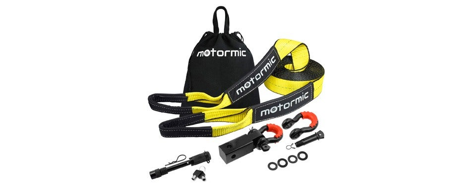 motormic tow straps recovery kit